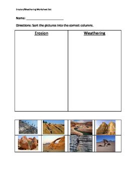 Weathering and Erosion Worksheet Set
