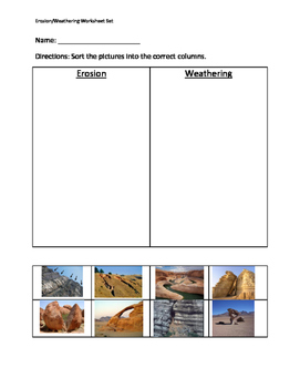 Weathering And Erosion Worksheets | Teachers Pay Teachers