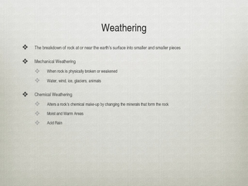 Weathering and Erosion ppt