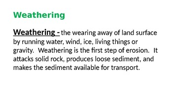 Weathering and Erosion pwrpt
