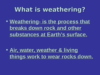 Weathering and Soil Formation PowerPoint