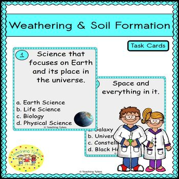 Weathering and Soil Formation Task Cards
