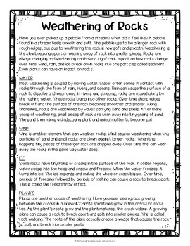 Weathering of Rocks: A Four Corners Activity (Review of Weathering)
