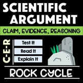 Rock Cycle Rate of Weathering Scientific Argument Claim Evidence Reasoning