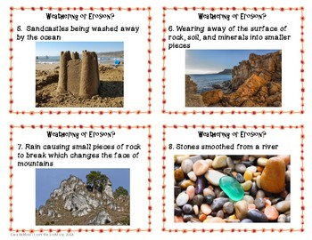 Weathering or Erosion Sorting Cards