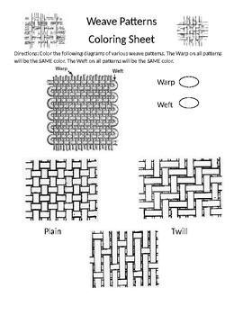 Weave Pattern Coloring Sheet