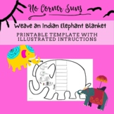 Weave a paper blanket for an Indian Elephant - printable template