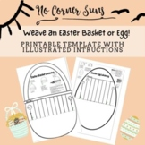 Weave an Easter Basket or Easter Egg- printable template f