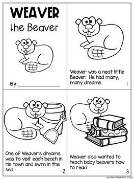 Weaver the Beaver {long e: ea activity pack!}