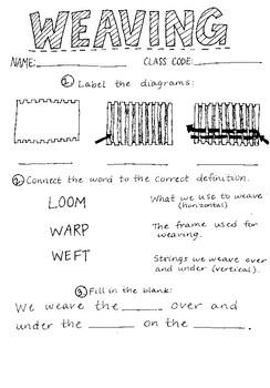 Weaving Assessment Grades 2-5