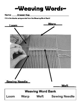 Weaving Words Worksheet