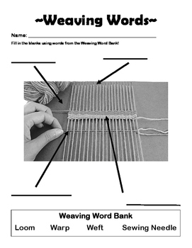 Weaving Words Worksheet