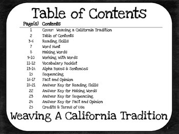 Weaving a California Tradition  4th Grade Harcourt Storytown Lesson 9