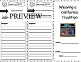 Weaving a California Tradition Storytown Comprehension Trifold