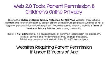 Web 2.0 Tools, Parent Permission & Children's Online Privacy