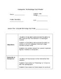 Web Design - Computer Technology Fact Finding Lesson Plan