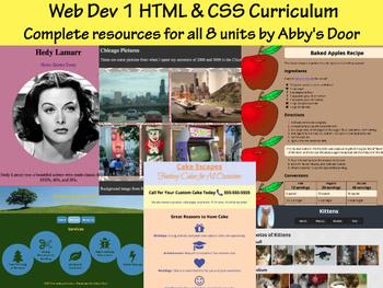 Web Design & Dev 1 in HTML & CSS - Curriculum Bundle