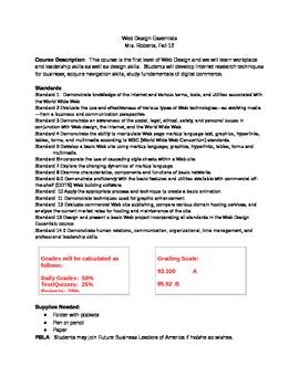Web Design Essentials Syllabus