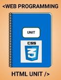 Web Design - HTML Unit