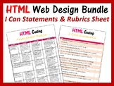 Web Design in HTML I Can Statements & Assessment Rubric Sheet