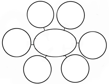 Web Diagram Graphic Organizer 6 spoke