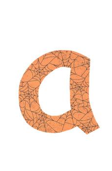 Web Letter (Halloween Letters)