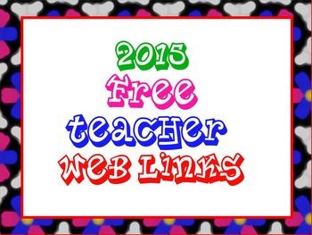 Web Links for Teachers - 2015