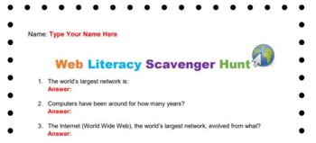 Web Literacy Scavenger Hunt