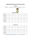 Web Math Minute Tracking Chart