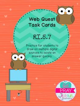Web Quest Task Cards- RI.5.7