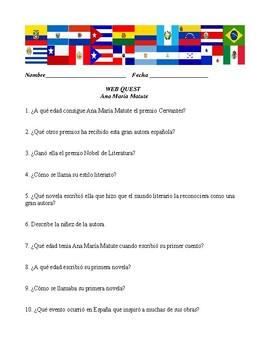 Web Quest for Ana María Matute