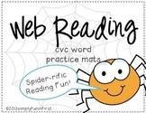 Web Reading! CVC word practice mats {FREE}