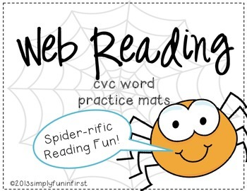 Web Reading! CVC word practice mats {FREE}