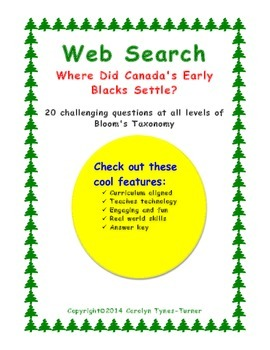 Web Search-Where Did Canada's Early Blacks Settle?