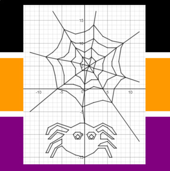 Halloween - Web Swinging - A Coordinate Graphing Activity