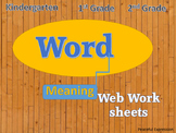Web Word Meaning  Work Book