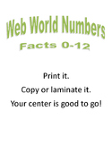 Web World Addition Fact Circles