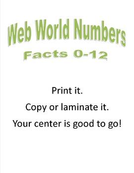 Web World Multiplication Fact Circles