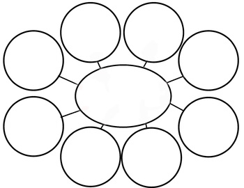 blank web diagram web diagram graphic organizer by sunshine to a grade-a | tpt #9