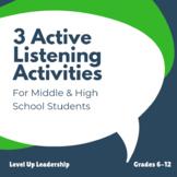 3 Active Listening Activities