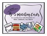 WebAblls B-5 Matching Cards, ABA Matching Cards