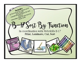 WebAblls B17 Sorting Cards and Coordinating Worksheets, Sort by Function Cards