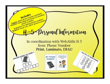 WebAblls H-5 Personal Info Phone Number, Learning Phone Number, Social Story