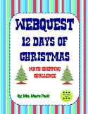 Math Activity - 12 Days of Christmas Math Shopping Challenge