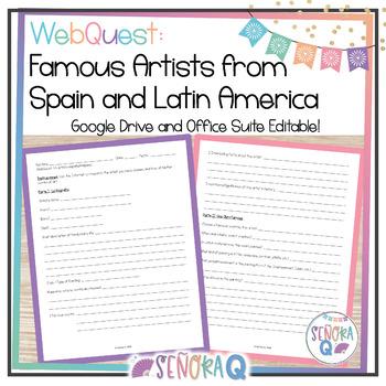 WebQuest: Artistas Famosos de España y Latinoamérica