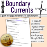 WebQuest: Boundary Currents (Western and Eastern)