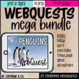 WebQuest Digital Activity Bundle  | Monthly Themed Fun