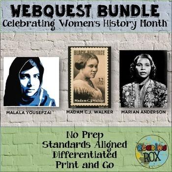 WebQuest Bundle: Celebrating Women's History