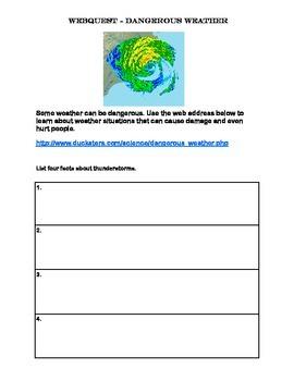 Dangerous Weather -Webquest