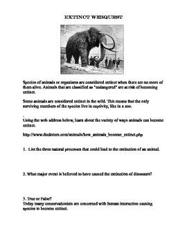 Extinction-Causes-Webquest